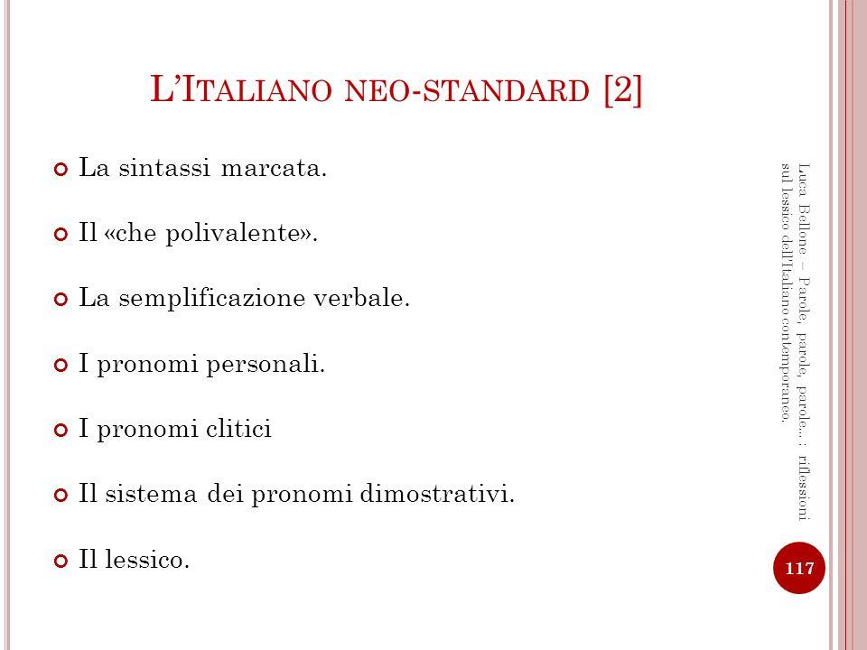 L'Italiano neo-standard [2]